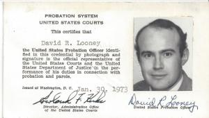 A young federal probation officer in 1973.