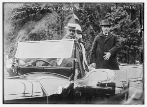 Bain News Service, P. Charles Evans Hughes in standing in touring car during Portland, visit. Library of Congress, https://www.loc.gov/item/ggb2005022563/.